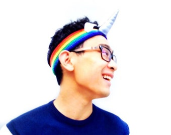 Pride Rainbow Unicorn Headband - Parade Run Sweatband