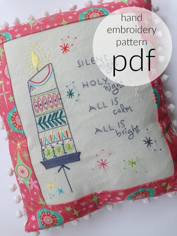Hand Embroidery Pattern Christmas Embroidery Midmod Vintage Decor