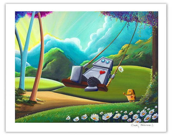 Robot Series Limited Edition - The Swing - Signed 8x10 Semi Gloss Print (5/10)