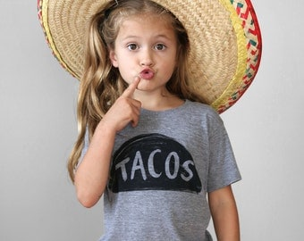 Taco T Shirt - gift for kids - back to school clothes - unisex kids taco tuesday graphic tee - taco graphic tee - girls boys birthday gift