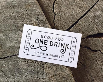 drink token template drink tickets etsy