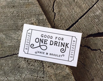 drink token template - drink tickets etsy