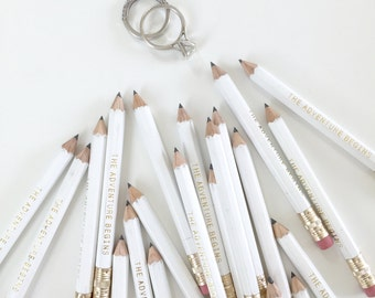 The Adventure Begins Mini Pencils // Bridal or Baby Shower Game Pencils