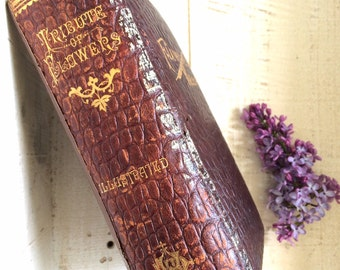 Flowers of Memory, Funeral Book, Funeral Ephemera, Macabre, Victorian Book, Funeral Poems, Tribute to Mother, Mourning , morbid book