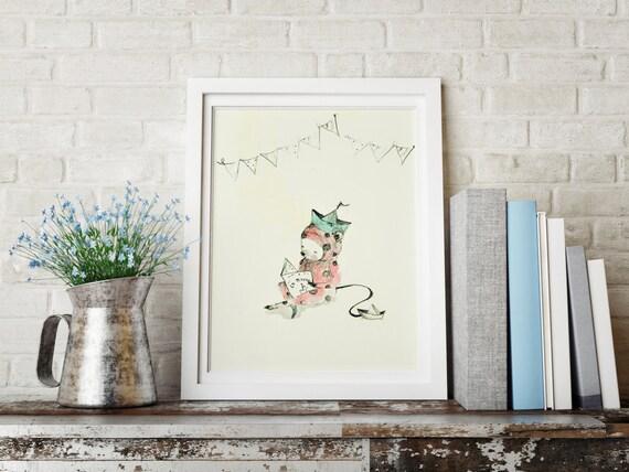 Pipino IV - Animal Art - Holli - Nursery Wall Art - Nursery Decor - Childrens Art - Kids Wall Art - Nursery Art