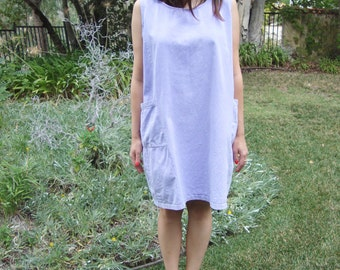 Vintage '90s Washed Cotton Sleeveless Tent Dress OS