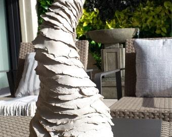Tall white sculpture. Whirlwind Tornado Vase. Porcelain ceramic white sculpture. Centerpiece vase, fine art  original art by Chelsea Mae