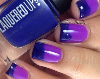 Opposites Attract// Thermal Color Changing Nail Polish// Navy to Pink// Cruelty Free