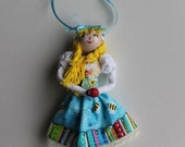 Handmade cloth doll May Day Queen