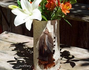 Vase, Container, Sculpture, Centerpiece, Wedding centerpiece, Birch Bark Vessel, Handmade Container, Natural centerpiece, Home Accent