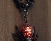 Steampunk gothic Jewelry - Necklace - Glowing Steampunk goth Spider
