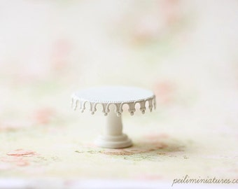 Dollhouse Miniature Queen Lace OR Princess Lace Cake Stand