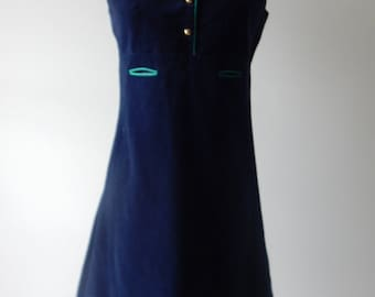 1960s dress / 60s velvet dress / wippette dress