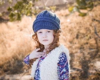 5 Sizes Denim Blue Hat Baby Hat Baby Girl Hat Baby Boy Hat Toddler Hat Toddler Girl Hat Toddler Boy Hat Womens Hat Crochet Winter Hat Buckle