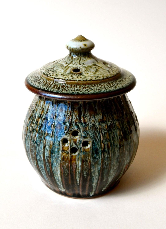Garlic Keeper Handmade Stoneware Pottery Garlic Keeper