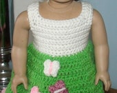 18 inch American Girl Crochet Pattern - Flutterby