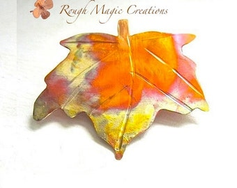Autumn Leaves. Maple Leaf Brooch. Rustic Copper Pin. Woodland Jewelry for Women. Fall Fashion. Gift for Her. Wearable Art. Artisan Jewelry