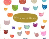 Wishing you all the cats card cc139