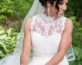 Rose Gold Bridal Earrings Crystal Chandelier Wedding Earrings Vintage Art Deco Style Wedding Jewelry FRANCES