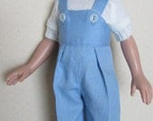"""For 14"""" Betsy McCall - Play Set Consisting of Overalls, T-Shirt and Chenille Jacket"""
