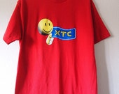 HAPPY // Vintage 90s XTC Shirt Unisex Medium Ecstasy MDMA Molly Club Kid Clothing 1990s Drugs Tshirt Cyber Rave Candy Kid Smiley Face