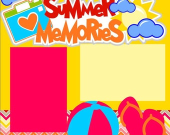 Summer Memories 12X12 Premade Scrapbook Page Kit or 12X12 Scrapbook Premade Layout