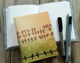 birds on a wire journal - traveler journal planner and gift