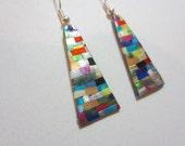 Quilt Mosaic Earrings pierced