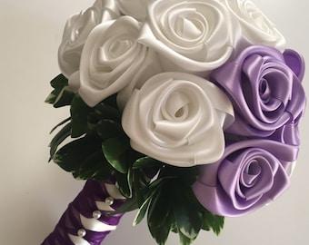 Lilac roses, Wedding bouquet, Off white roses, Pittosporum greenery wedding bouquet/  Brides bouquet