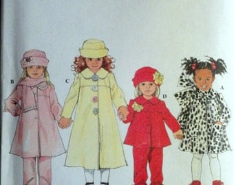 Simplicity 8352 Sewing Pattern, Girl's Toddlers' Coat or Jacket, Pants, Hat & Scarf, Sizes 2-3-4, Winter Fashion, Uncut FF