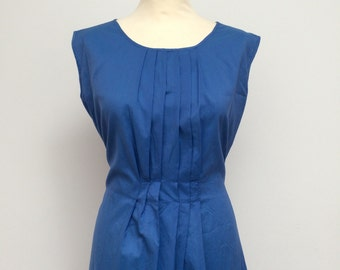Pleated dress, Blue dress, Vintage dress, Summer gown
