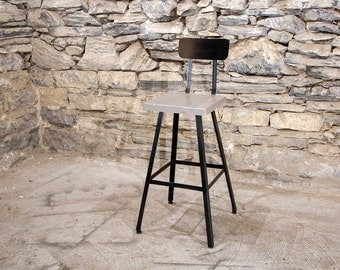 FREE SHIPPING - Brew Haus Industrial Style Scooped Back Bar Stools - London Fog Edition - & FREE SHIPPING Brew Haus Industrial Style Bar Stools with islam-shia.org