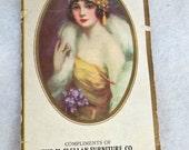 Flapper Lady Advertising Card Sewing Needles, Batavia NY Furniture