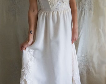 Elodie Wedding Gown... wedding dress separates whimsical boho bohemian woodland rustic country bustier eco friendly