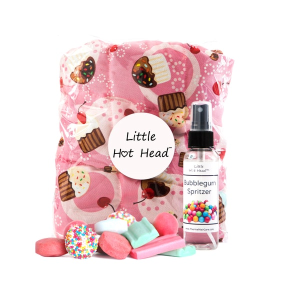 FOR KIDS! Gift Set ~ Includes 1 Cupcakes Little Hot Head, 1  Bubblegum Spritzer and 1 Package of Shower Caps