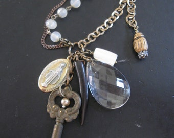 Salvaged Curios No. 7 - Recycled Vintage Assemblage Necklace