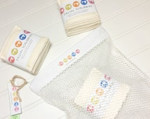Facial scrubbers reusable cotton face cleaners 3 ply washable cloth wipes
