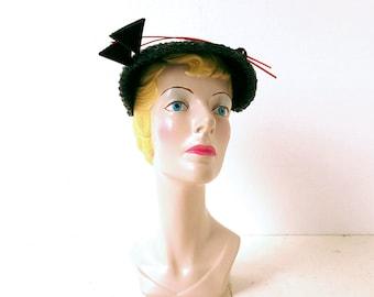 Vintage 1940s Hat | Two Arrows Hat | 40s Hat
