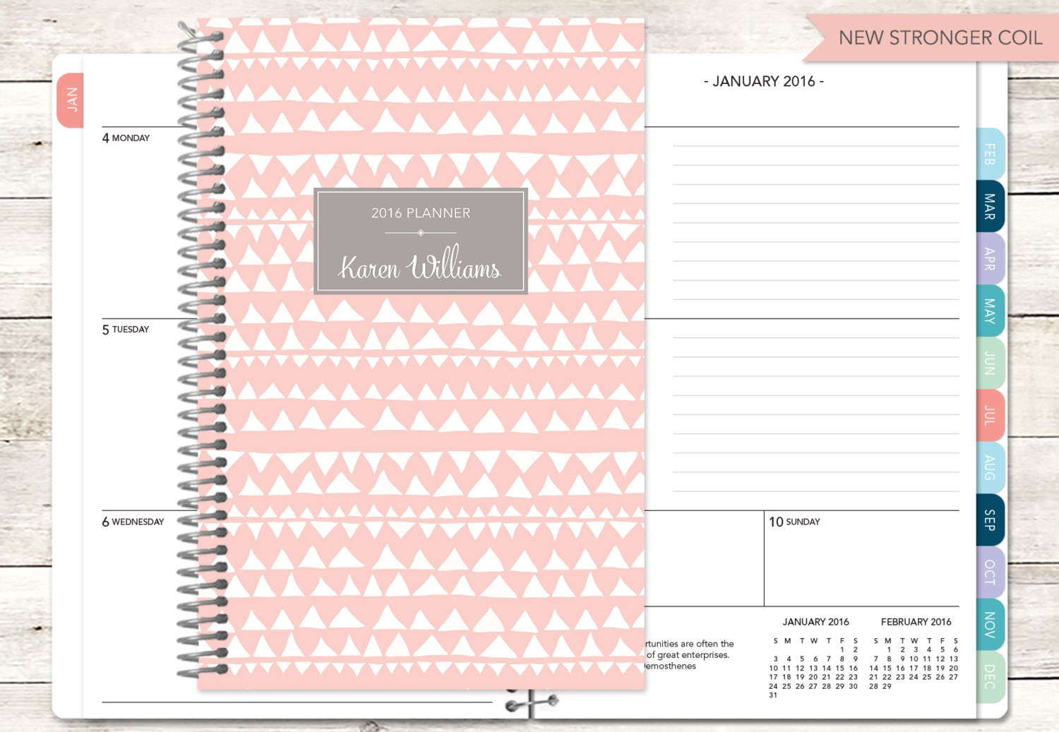 Personalized planner 2017 2018 calendar add by posypaper for Custom photo planner