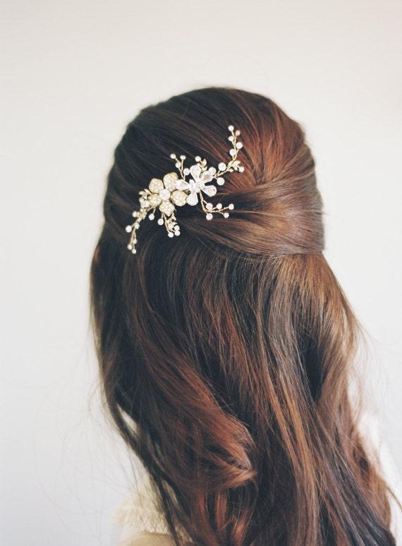 Bridal Hair Comb, Swarovski Crystal Comb, Bridal Hair Accessory, Swarovski Crystal Bridal Comb, Floral Comb, Bridal Bling, Art Deco 1602