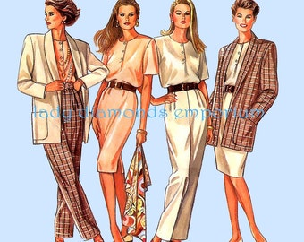 New Look 6105 Womens Pullover Slim Dress Top Pants Jacket size 8 10 12 14 16 18 Chic Professional Mix & Match Sewing Pattern Uncut FF #354