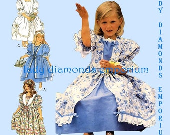 Style 2604 Girls Special Occasion Easter Dress size 3 4 5 6 7 8 Party Dress Flower Girl Dress  Princess Vintage Sewing Pattern Uncut FF