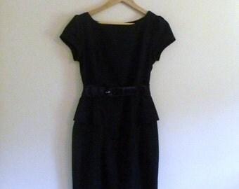 PREVIOUSLY 33.00 - Vintage 90 LBD Black Wiggle Mini Dress - Size XS