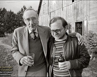 WILLIAM BURROUGHS, Ken Kesey, Clyde Keller Photo, featured on the Huff Post, Fine Art Print, Black and White, 1976 image