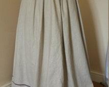 Edwardian Linen Walking Skirt, Gored Skirt