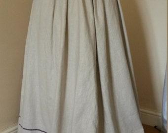 Edwardian Linen Walking Skirt, Downton skirt, customisable