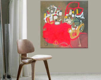 Large Abstract Art, Original Abstract Painting, Mid Century Modern, Large Wall Art, Oil Painting