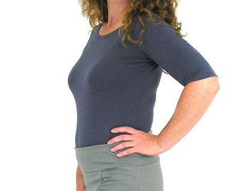 Comfy Gathered Mini -  XL - SMOKE - Hemp/Organic Cotton/Lycra