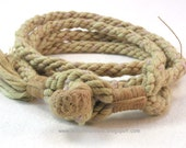 mixed fiber thick multi wrap bracelet handmade rope with clay button rope bracelet button bracelet 3874