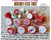 48 Yummy Valentine Hershey Kiss Tags Labels /Treat /Teacher Appreciation /Classroom Treat / Party Favor / Party Treats
